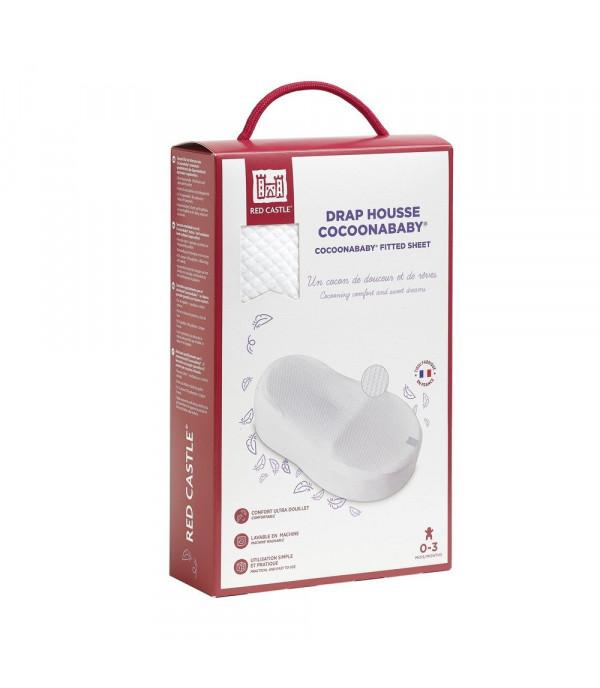 Простынка для кроватки COCOONaBABY S3 Red Castle (Fleur de Coton®) белая